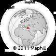 Outline Map of Burdur