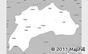 Gray Simple Map of Burdur