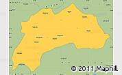 Savanna Style Simple Map of Burdur