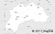 Silver Style Simple Map of Burdur