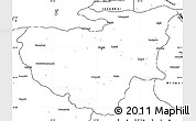 Blank Simple Map of Bursa