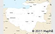 Classic Style Simple Map of Bursa