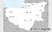 Gray Simple Map of Bursa