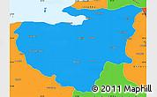 Political Simple Map of Bursa