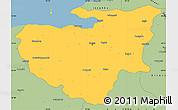 Savanna Style Simple Map of Bursa