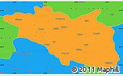 Political Simple Map of Cankiri