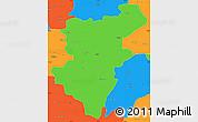 Political Simple Map of Denizli