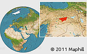 Satellite Location Map of Diyarbakir