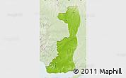 Physical Map of Edirne, lighten