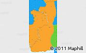 Political Simple Map of Edirne