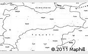 Blank Simple Map of Erzincan