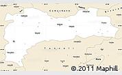 Classic Style Simple Map of Erzincan
