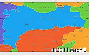 Political Simple Map of Erzincan