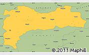 Savanna Style Simple Map of Erzincan