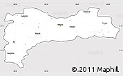 Silver Style Simple Map of Erzincan, cropped outside