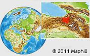 Physical Location Map of Erzurum