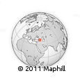 Outline Map of Erzurum