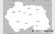 Gray Simple Map of Eskisehir