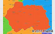 Political Simple Map of Eskisehir
