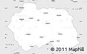 Silver Style Simple Map of Eskisehir