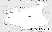 Silver Style Simple Map of Gaziantep