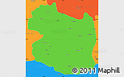 Political Simple Map of Gumushane