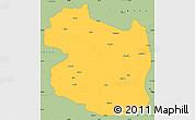 Savanna Style Simple Map of Gumushane