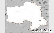Gray Simple Map of Hakkari