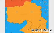 Political Simple Map of Hakkari
