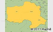 Savanna Style Simple Map of Hakkari