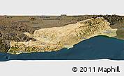 Satellite Panoramic Map of Icel, darken