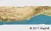 Satellite Panoramic Map of Icel