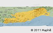 Savanna Style Panoramic Map of Icel
