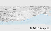 Silver Style Panoramic Map of Icel