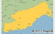 Savanna Style Simple Map of Icel