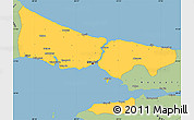Savanna Style Simple Map of Istanbul