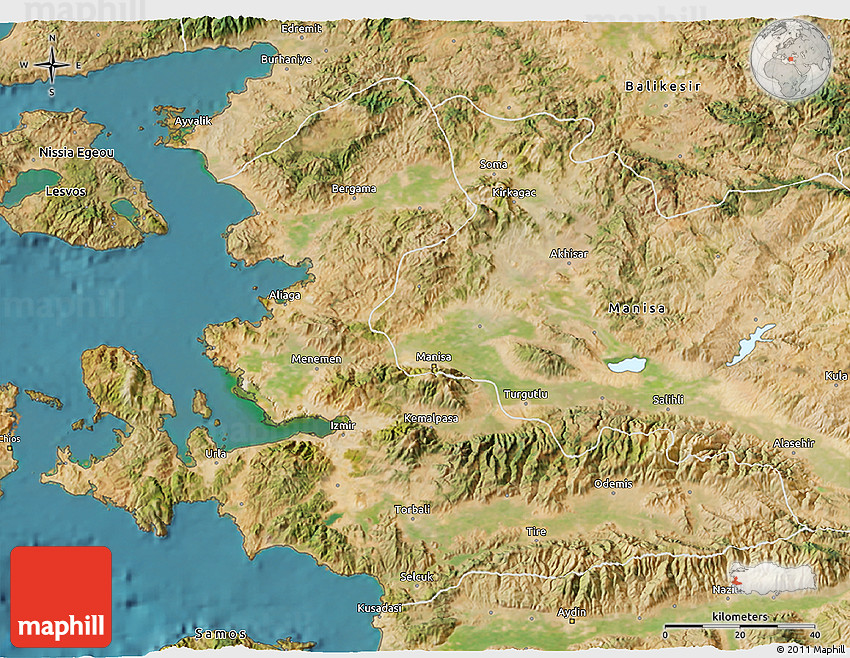 satellite 3d map of izmir