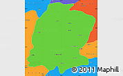 Political Simple Map of K. Maras