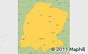 Savanna Style Simple Map of K. Maras