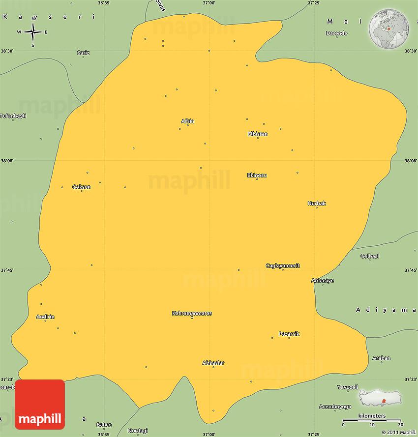 K Maras Turkey maps k maraş