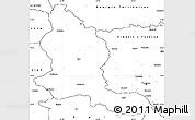 Blank Simple Map of Kars