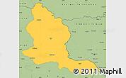 Savanna Style Simple Map of Kars