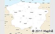 Classic Style Simple Map of Kastamonu