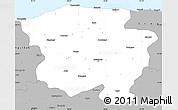 Gray Simple Map of Kastamonu