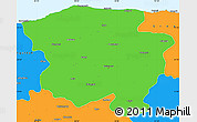 Political Simple Map of Kastamonu