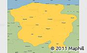 Savanna Style Simple Map of Kastamonu
