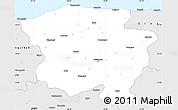 Silver Style Simple Map of Kastamonu