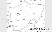 Blank Simple Map of Kayseri
