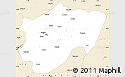 Classic Style Simple Map of Kayseri
