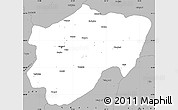 Gray Simple Map of Kayseri